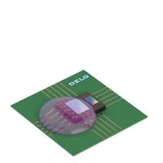 Материалы для заливки и герметизации ꜛ DELO (glob-top)