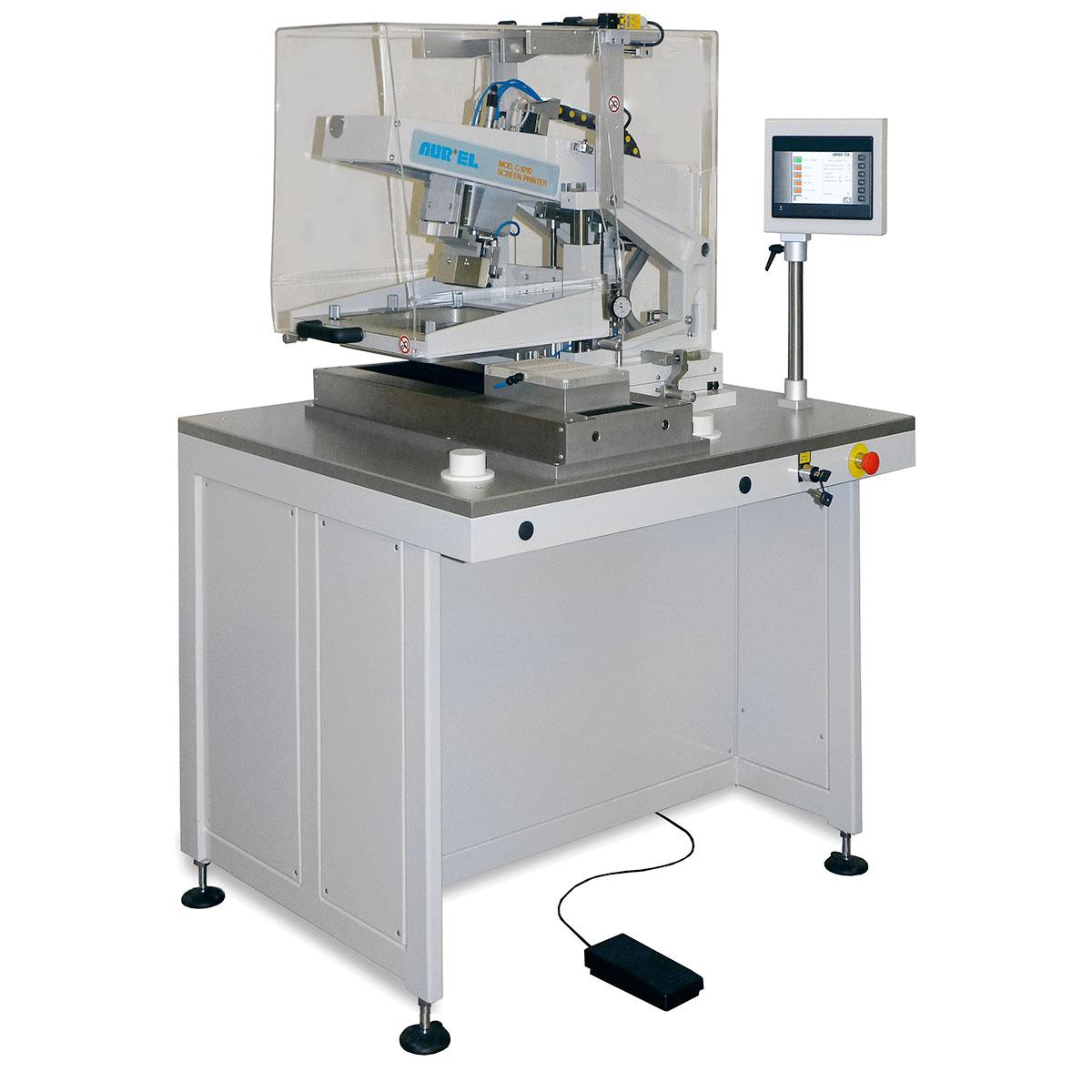 AUREL C1010D ꜛ принтер полуавтоматической трафаретной печати