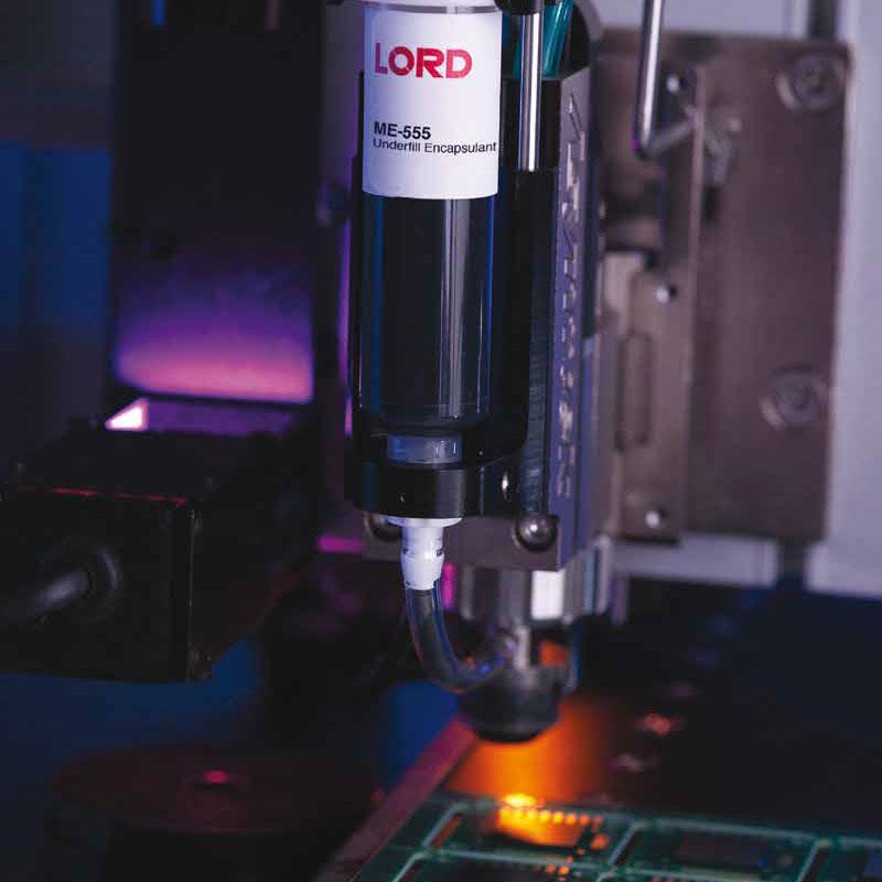 Материалы для заливки и герметизации ꜛ LORD (underfill)
